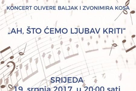 Olivera Baljak i Zvonimir Kos daruju nam koncert povodom Dana grada Gospića
