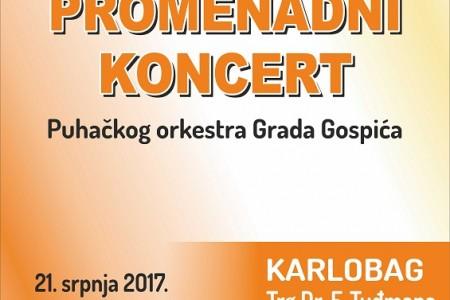 Gospićki puhački orkestar večeras nastupa u Karlobagu