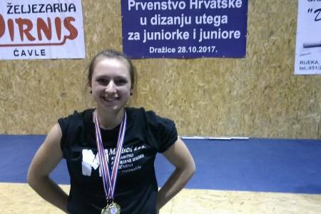 Sara Brodić sa samo 17 godina najbolja Hrvatska juniorka u dizanju utega!!!