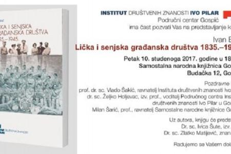 U Gospiću predstavljanje knjige autora Ivana Brlića