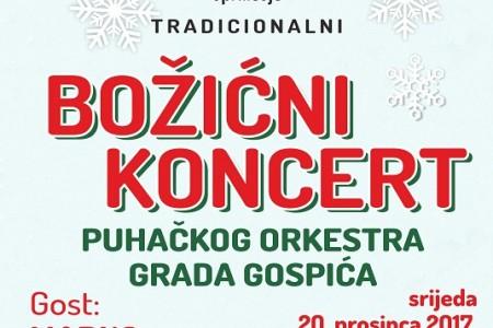 U srijedu tradicionalni Božićni koncert Puhačkog orkestra, gost Marko Škugor