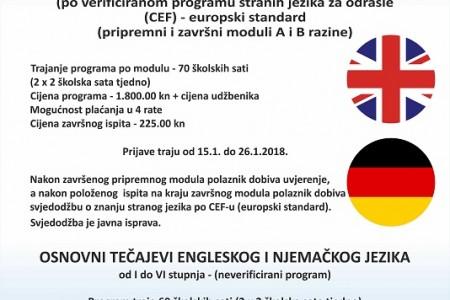 Vrijedni i važni tečajevi u POU dr.Ante Starčević