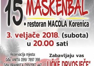 Tradicionalni maskenbal i Ličke drvosječe u subotu 3.veljače garantiraju vrhunsku zabavu!!!