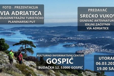 Večeras u Gospiću Via Adriatica
