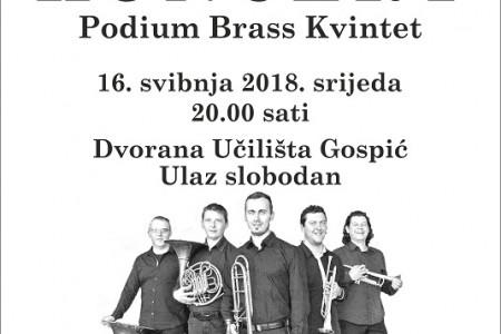 Večeras u Gospiću nastupa Podium Brass Kvintet
