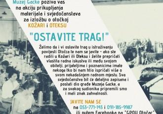 OSTAVITE TRAG – muzejska akcija prikupljanja građe o otočkoj Kožari i Oteksu