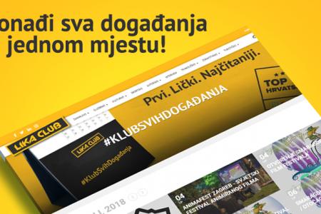 Novo na portalu LIKACLUB: Klub Svih Događanja!