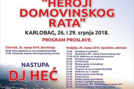 """6.Malonogometni turnir Heroji Domovinskog Rata"""": Heroji Ulice iz Gospića kreću u obranu naslova!"""