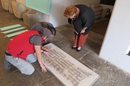 Ribnički rimski mozaik vraćen s restauracije iz Rijeke u Gospić