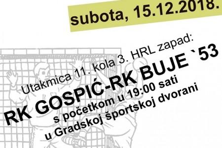 RK Gospić poziva: večeras svi na utakmicu pa na rukometnu večer