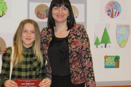 Učenica Lea Stilinović napravila najbolji likovni rad koji je izabran za logo projekta šume Jasikovac!!!