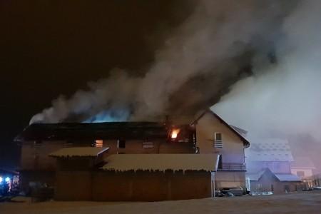Požar u hotelu Mirni kutak u Otočcu