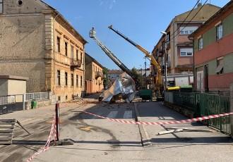 Sanacija štete nastale od vjetra na objektu kod Srednje škole u Otočcu
