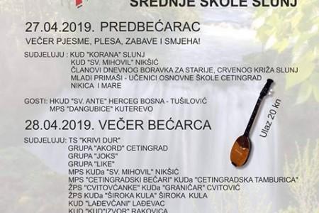 Večeras ženska pjevačka skupina  KUD-a  Široka Kula nastupa na večeri bećarca u Slunju