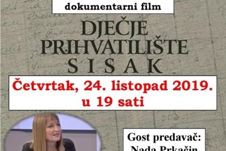 """Večeras Tribina četvrtkom uz dokumentarni film """"Dječje prihvatilište Sisak"""""""