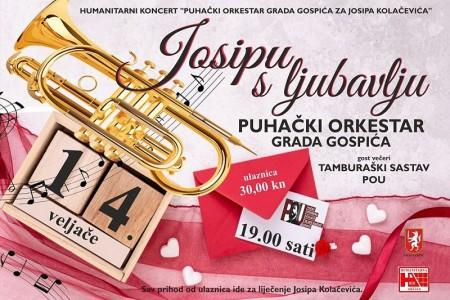 Ne propustite humanitarni koncert: Puhački orkestar Gospić za Josipa Kolačevića!!!
