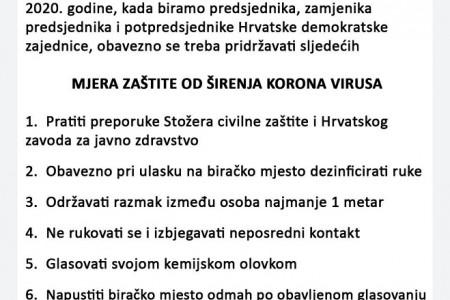 Danas izbori u HDZ-u uz mjere zaštite od korona virusa