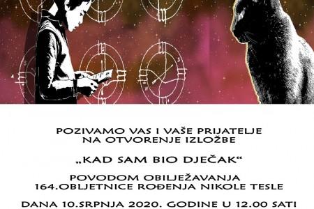 """""""Kad sam bio dječak""""- 10.srpnja otvorenje izložbe o Nikoli Tesli"""