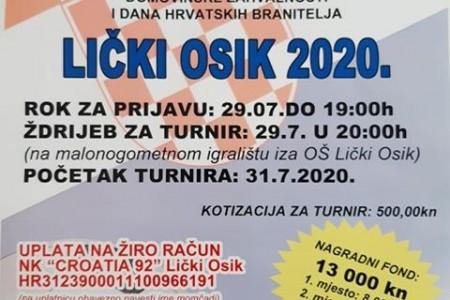 Ne zaboravite: zadnji je dan prijava za malonogometni turnir u Ličkom Osiku