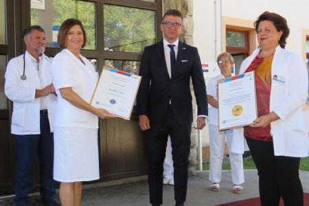 Opća bolnica Gospić prva bolnička ustanova u javnozdravstvenom sustavu u Hrvatskoj s uglednim američkim certifikatom