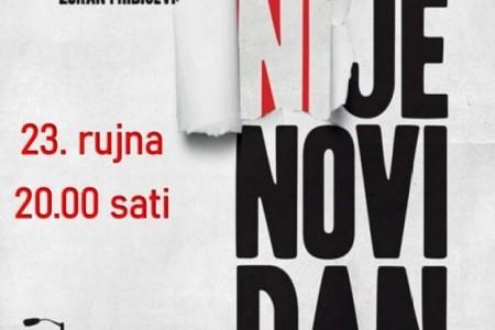 "U Gospiću gostuje  Exit teatar  s predstavom ""Sutra (ni)je novi dan"""