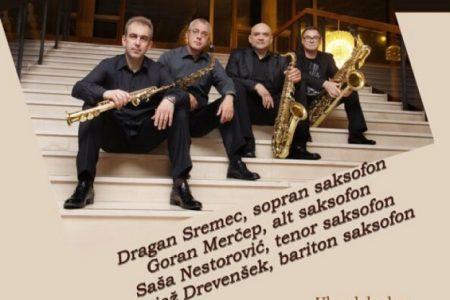 Koncert Zagrebačkog kvarteta saksofona 26.studenoga u 19 sati u Pučkom u Gospiću