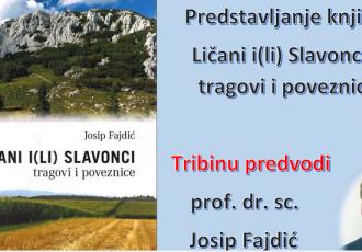 """U četvrtak 1.srpnja predstavljanje knjige """"Ličani i(li) Slavonci tragovi i poveznice"""""""
