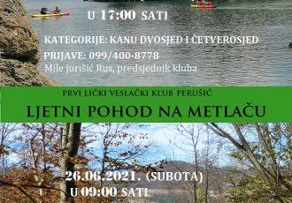U subotu ne propustite Veslačku regatu na rijeci  Lici i planinarski pohod na Metlaču