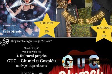 Danas i sutra u Gospiću dvije hit predstave u sklopu projekta Glumci u Gospiću