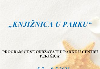 """Od 5.do 9.srpnja u Perušiću posjetite """"Knjižnicu u parku"""""""