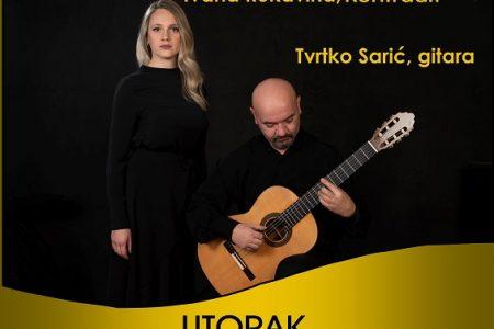 Ne propustite: u utorak koncert Ivane Rukavina i Tvrtka Sarića