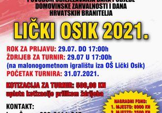 """Prijavite svoje ekipe na malonogometni turnir """"Lički Osik 2021.!"""