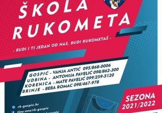 Rukometni klub Gospić upisuje nove članove